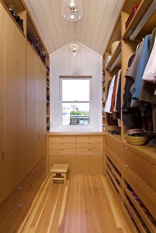 plywood closet design