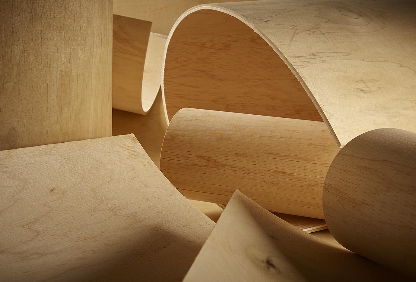 Radius bending plywood bendable flexible
